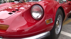 Red Ferrari Dino walking dolly Stock Footage