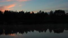 Sunset on the river Bolshaya Kokshaga. Kokshamary village, Republic Mari El,  Stock Footage