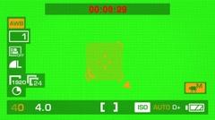 Camera Recording - Green Screen - Square - Orange 01 Stock Footage