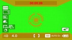 Camera Recording - Green Screen - Circle - Orange 01 Stock Footage
