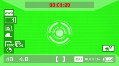 Camera Recording - Green Screen - Circle - White 01 Stock Footage