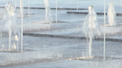 A detail of the fountains on the promenade in Chiavari Stock Footage
