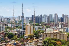 View of Salvador Cityscape, Bahia, Brazil Stock Photos