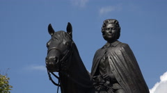 Statue of Queen Elizabeth II, Ottawa Parliament Hill, Canada - stock footage