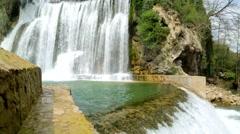 Stock Video Footage of Waterfalls in city Jajce, Bosnia and Herzegovina