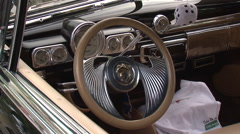 Mercury Eight steering wheel close up zooms - stock footage
