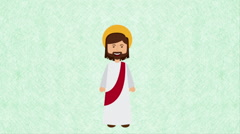 Religion icon design  Video Animation - stock footage