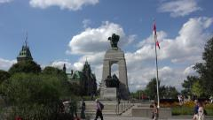 Piper at National War Memorial, Confederation Square, Ottawa, Canada Stock Footage