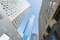 Modern buildings in downtown Melbourne Stock Photos