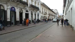 Street with old colonial buildings Stock Footage