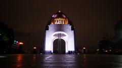 Monumento a la Revolución Night Timelapse Stock Footage