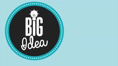 Big Idea over blue background Stock Footage