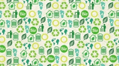 Ecology icon design Stock Footage