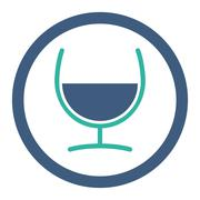 Remedy Glass Rounded Raster Icon - stock illustration