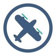 Screw Aeroplane Rounded Raster Icon Piirros