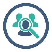 Search Patient Rounded Raster Icon Stock Illustration