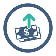 Spend Money Rounded Raster Icon Stock Illustration