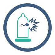 Sperm Escape Rounded Raster Icon - stock illustration