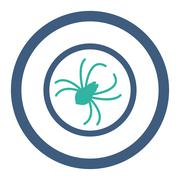 Spider Rounded Raster Icon - stock illustration