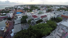 Aerial of Building in Mexico Stock Footage