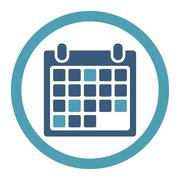 Stock Illustration of Calendar Appointment Rounded Raster Icon