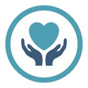 Stock Illustration of Charity Rounded Raster Icon