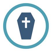 Coffin Rounded Raster Icon Piirros