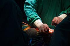 Surgery for Coronary Artery Bypass Stock Photos