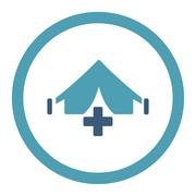 Filed Hospital Rounded Raster Icon - stock illustration