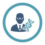 Genetic Engineer Rounded Raster Icon - stock illustration