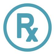 Stock Illustration of Prescription Symbol Rounded Raster Icon