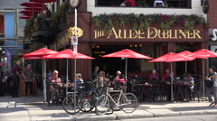 The Auld Dubliner restaurant, Byward Market, Ottawa, Canada Stock Footage