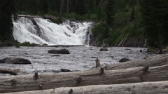 Lewis Falls 2 Seamless Loop Stock Footage