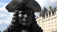 Close up of The Valiants Memorial, statue, Ottawa, Canada Stock Footage