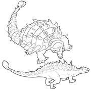 ankylosaurus - stock illustration