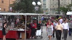 People visit, Byward Market, Ottawa, Canada Stock Footage