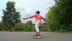 Skilled Skater Stock Footage