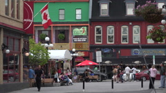 Typical street in Byward Market, Ottawa, Canada Stock Footage