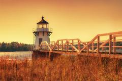 Doubling Point Lighthouse in New England - stock photo