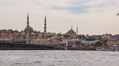 Istanbul historical part Panning time-lapse Stock Footage