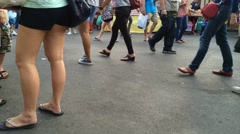 Timelapse croud of people Stock Footage