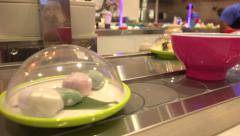 Conveyor Belt Sushi Restaurant Stock Footage