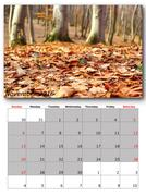 November nature calendar page layout for print Stock Photos