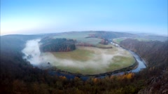 Autumn misty morning, timelapse. Czech Republic Stock Footage