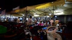 Restaurant in Saigon  night street in Vietnam Stock Footage