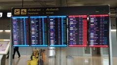 Timelapse of information desk in Bkk airport Stock Footage