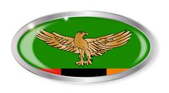 Stock Illustration of Zambia Flag Oval Button