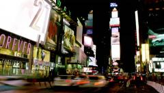 Stock Video Footage of Night Timelapse of Times Square.