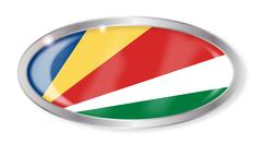 Stock Illustration of Seychelles Flag Oval Button