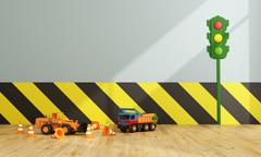 Colorful Playroom with toys Stock Illustration